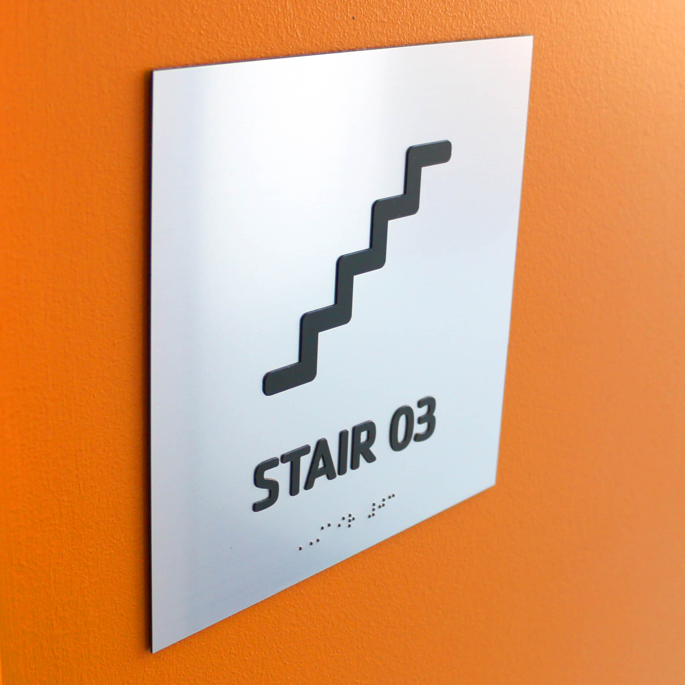 Custom ADA Braille and Tactile Lettering Signs