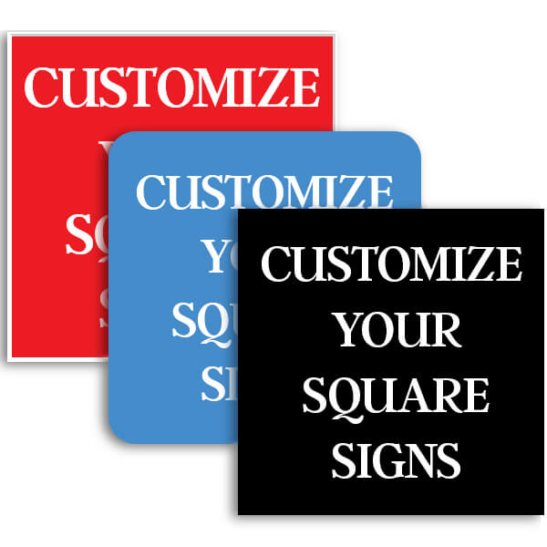 Square Engraved Signs
