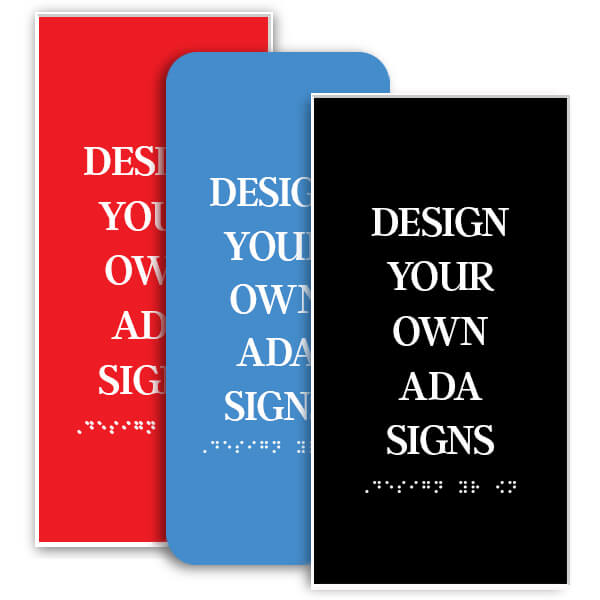 Vertical ADA Sign