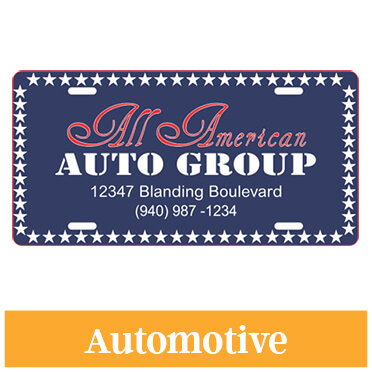 Custom Auto Group License Plate