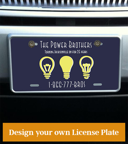 Utility Service License Plate