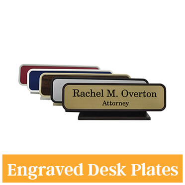 Engraved 2 Color Desk Plate
