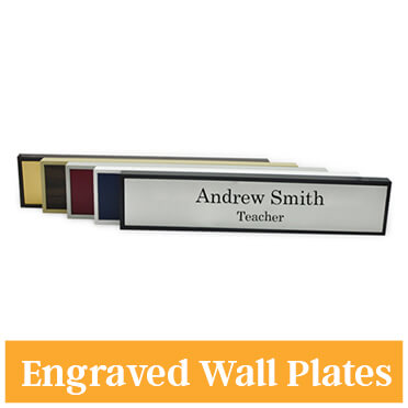 Engraved 2 Color Wall Name Plate