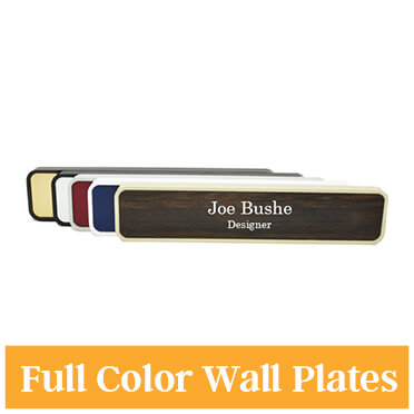 Full Color Wall Name Plate