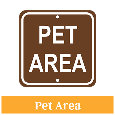 Pet Area Sign
