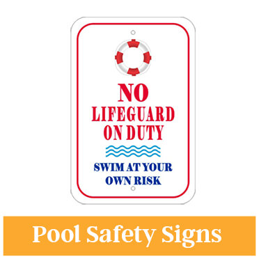 Aluminum No Lifeguard on Duty Sign