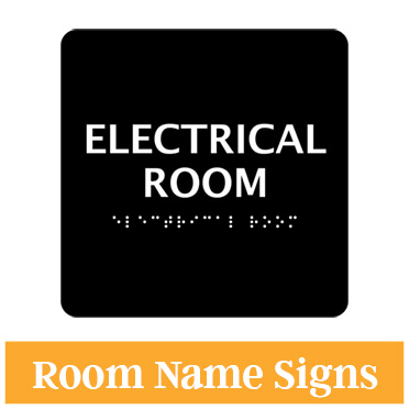 Electrical Room Braille Sign