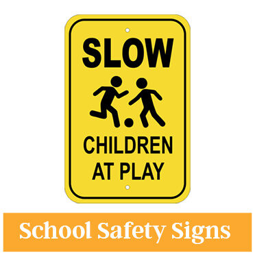 Aluminum School Zone Sign