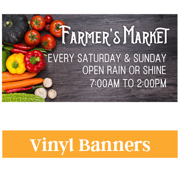 Vinyl banners are created on our large format printer and can include any colors or text that you need see our pre designed templates for parties or events